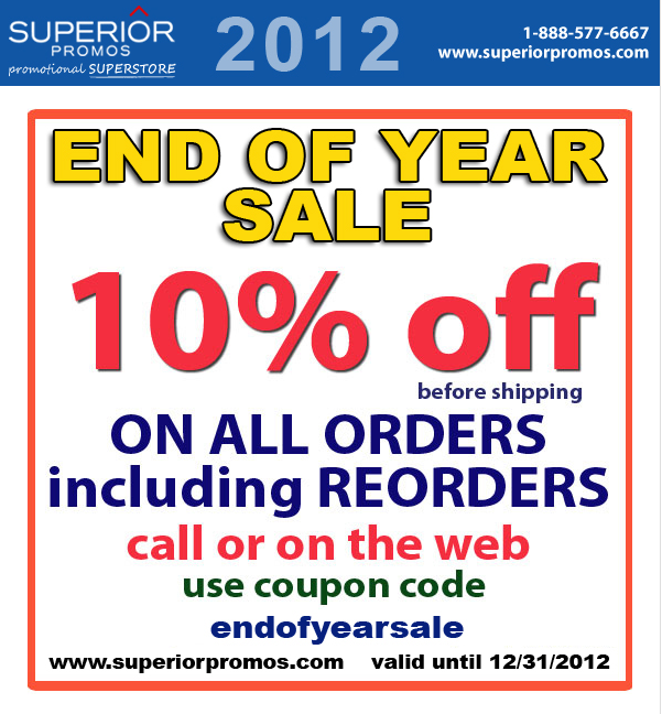 10% Off Until 12/31/12