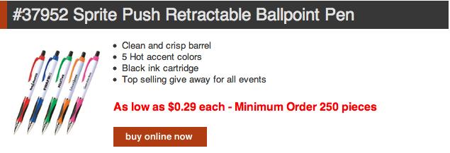 Ballpoint Promotional Pens On Sale