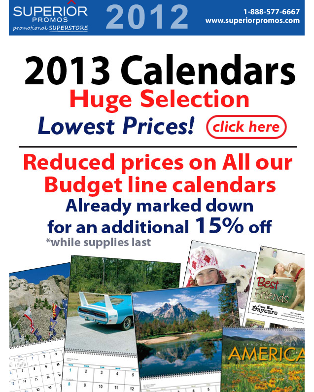 Save Up to 15% on Promotional Calendars